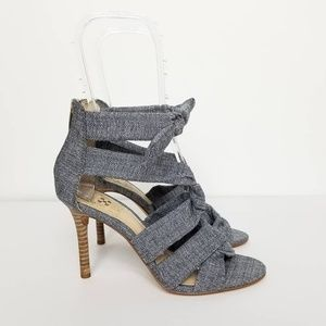 NEW Vince Camuto Gray Chania Heeled Sandal